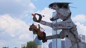 Autoweek takes a ride with Robosaurus through downtown Dallas