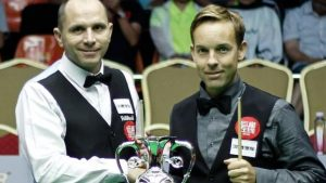 World Open snooker: Ali Carter takes 6-3 lead over Joe Perry in all-English final