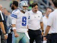 Tony Romo exits early after hit from behind