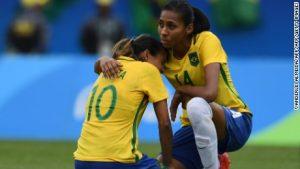 Brazil's women knocked out by Sweden on penalties