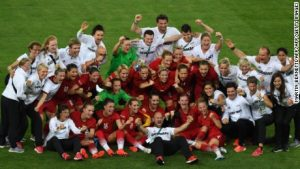 Jubilant Germans win first Olympic gold