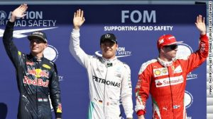 F1: Rosberg makes the most of Hamilton's penalty