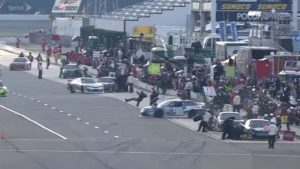 Two ARCA crew members hit by stock car after brake failure in pits