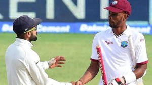 Roston Chase century earns West Indies draw against India