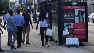 Witness details Cam Newton's act of kindness to Baltimore homeless man