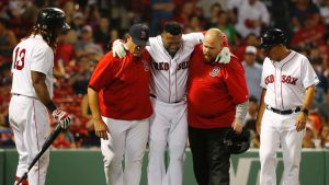 Ortiz back in lineup day after fouling ball off leg
