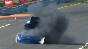 Video: Derrike Cope's Chevrolet explodes during NASCAR Xfinity race at Watkins Glen