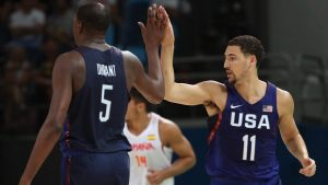 Thompson, U.S. eke past Spain, to play for gold