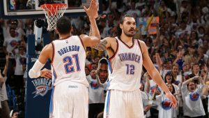 Thunder teammates belt out Backstreet Boys song