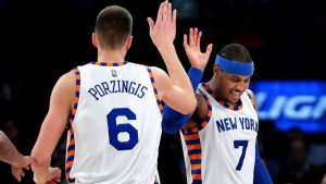 Porzingis rents penthouse in same building as Carmelo's gym