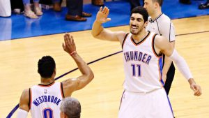 Enes Kanter trolls Kevin Durant and Lakers fans