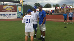 Karl-Anthony Towns wins Coach Cal's UK celebrity softball home run derby