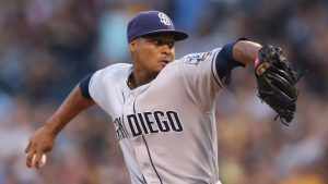Emerging righty Luis Perdomo sets Padres record with six double plays on Sunday