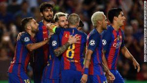 Messi, Neymar star in Barcelona's record win