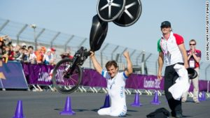 F1 driver who 'cheated death' wins paracycling gold