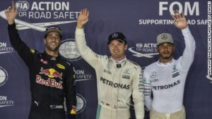 Nico Rosberg on pole after qualifying