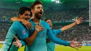Barcelona survives Monchengladbach scare