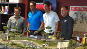 NASCAR Chase drivers battle it out on Autoweek slot car track