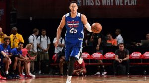 Ben Simmons joins LeBron James, Dwyane Wade for workout