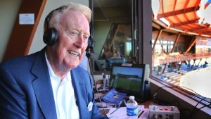 As end nears, Vin Scully has emotions in check, 'but you never know'