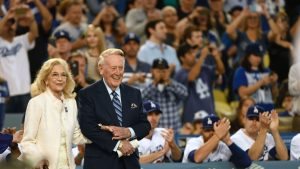 A subplot as Dodgers close in on another division title: 'Win for Vin'