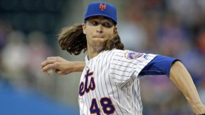 Jacob deGrom scratched with elbow issue that will likely end his season
