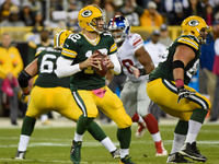 Packers' offensive line dominates in win over Giants