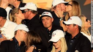 No kiss for Ryder Cup star Fowler?