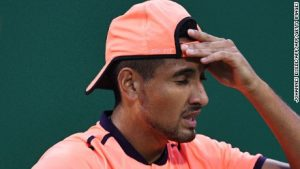 Controversial Kyrgios fined for 'lack of effort'