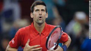 Agitated Djokovic survives Shanghai scare
