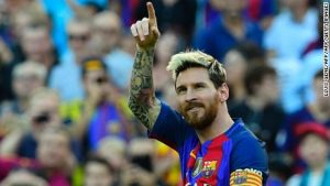 Lionel Messi scores on return from injury