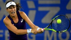 Johanna Konta beats Anastasija Sevastova in first round of China Open