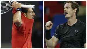 Andy Murray claims place in Shanghai Masters final as Novak Djokovic loses