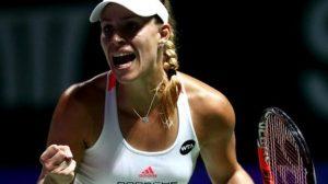 Kerber edges past Cibulkova at WTA Finals