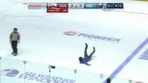 WATCH: Fan climbs glass, runs all over the ice during junior hockey game