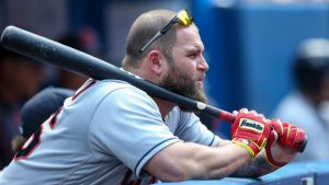 Mike Napoli tries to get the Indians to go to Vegas after winning the ALCS