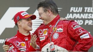 F1 legend Brawn hails Schumacher's 'strength'