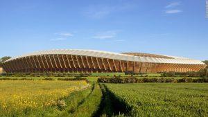World's first wooden stadium?