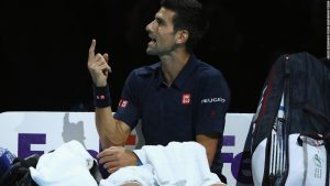 Angry Djokovic clashes with umpire