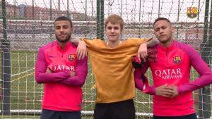 WATCH: Justin Bieber takes on Neymar