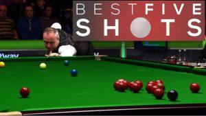 UK Championship: Five of the best shots as John Higgins beats Ben Woollaston