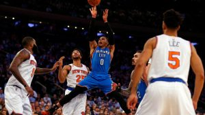 On historic triple-double tear, Russell Westbrook is getting the Thunder going