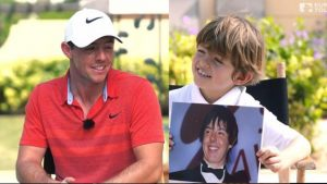 'Who's your favourite girl tennis player?' McIlroy's awkward grilling by child