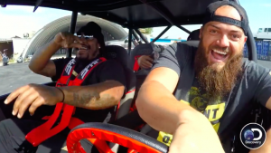 WATCH: Marshawn Lynch rides in dune buggy with goat on new 'Diesel Brothers'
