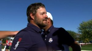 Ryder Cup 2016: Ryan Moore seals victory for United States
