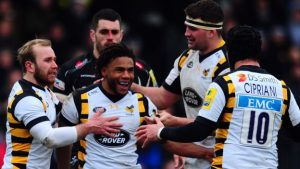 Wasps held by 14-man Exeter in 10-try thriller