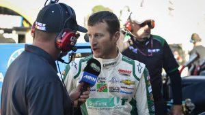 Watch comedian John Crist make fun of NASCAR post-race interviews