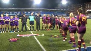 Elli Norkett tribute by Cardiff Met Uni rugby players
