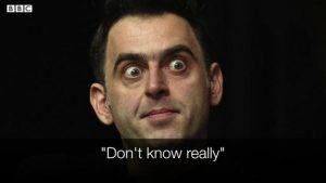 Players Championship Ronnie O'Sullivan signs Oasis' Wonderwall in interview