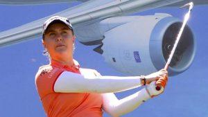 Lexi Thompson leads first women's major as Charley Hull slips back